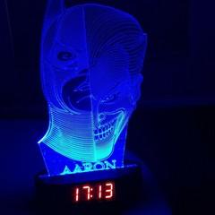 3D ILLUSION BATMAN JOKER LED NIGHT LIGHTS WITH USB AND CLOCK DISPLAY