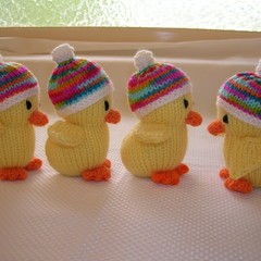 Duck - Hand knitted soft toy - ready to post