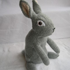 Bunny Rabbit - Hand made knitted toy bunny - ready to post