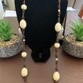 Wooden Beaded Long Necklace
