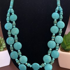 Turquoise Double Strand Necklace