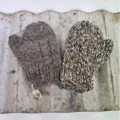 Child Mitts - Handspun - Hand Knit