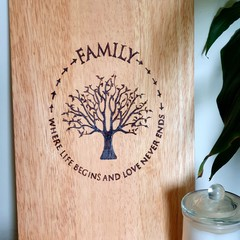 Family Tree Cutting Board - Made to Order