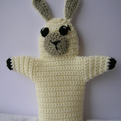 LLama Puppet - handmade crochet toy - ready to post