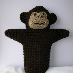 Monkey Puppet - handmade crochet toy - ready to post