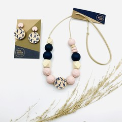 Tribal Collection - Blush on Navy