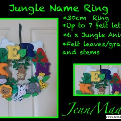 Personalised Door/ Wall Wreath/Ring