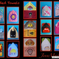Personalised Hooded Towels