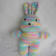 Bunny - hand knitted softie toy rabbit - ready to post