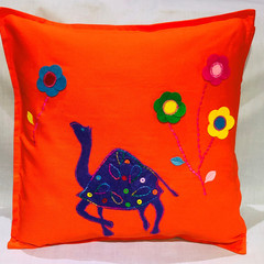 Applique Camel Cushion cover