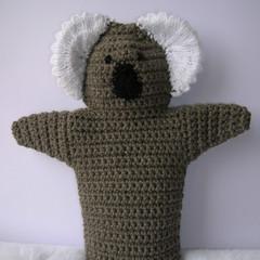 Koala Puppet - handmade crochet toy - ready to post