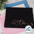 Personalised Large Black Cosmetic Makeup Bag or Clutch  4 Colours Available