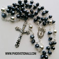 Rosary - 8mm Deep Blue Glass Crystal Beads