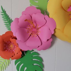 Tropical Hibiscus Paper Flower Set