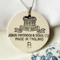 Ivory Ware Backstamp pendant