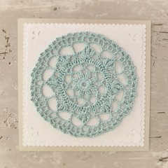 Greeting Card Aqua - Birthday Wedding Thank You Love