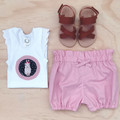 Bubble Shorties & Singlet Set - Dusty Pink - Bloomers - Easter Bunny