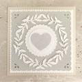 Greeting Card Ivory White - Wedding Love Birthday