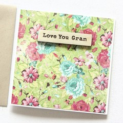 Personalised Mother's Day card | 16 Names to Choose From | Floral & Wood Custom