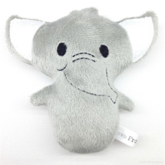 Elephant Rattle Toy Grey and White