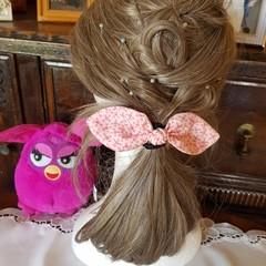 """Apricot Flowers"" Girls Hair Bow Elastic"