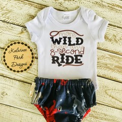 """""""More Wild than any 8 second Ride"""" Onesie Set Custom Order for Lisa"""