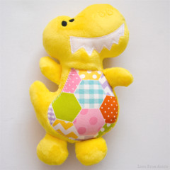 Yellow Dinosaur Plush Toy