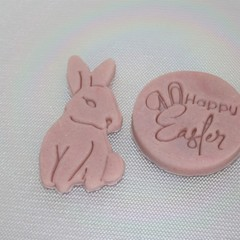 6 Bunny Playdough Easter Bunny Playdough Easter Gift Destress Dough