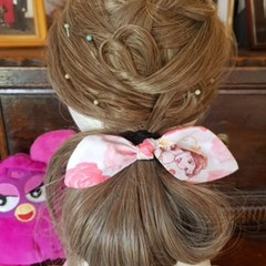 """Belle"" Girls Hair Bow Elastic"