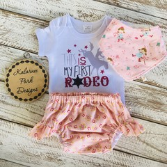 """""""This is my First Rodeo""""  Onesie Set Custom Listing for Luke"""