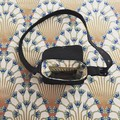 Acetaria cross body saddle bag - Art Deco Lining!