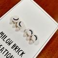 Eye Brick Stud Earrings