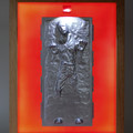 Han Solo in Carbonite Star Wars limited edition 3D wax painting led light box