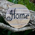 Home Circle Reclaimed Timber Sign