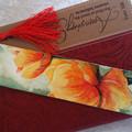 Original Watercolor Floral Bookmark   2 inch x 8 inch   FREE SHIP in Australia