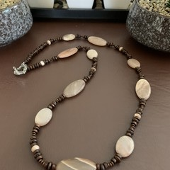Moonstone Wooden Necklace