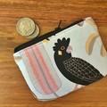 Coin purse - Black Cockatoo on White