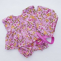 Dolls Dress, Bloomers and Bonnet