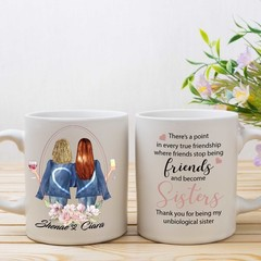 When Friends become Sisters, Best Friend Personalised Mug