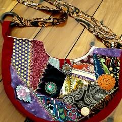 Unique handmade embroidered bag