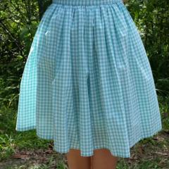 Mint Gingham Skirt - 75cm waist