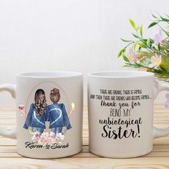 Best Friend Personalised Mug, Unbiological sister,  Soul Sister Mug, BFF Gift