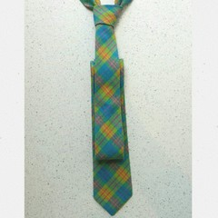 Mens Tie - Blue Check