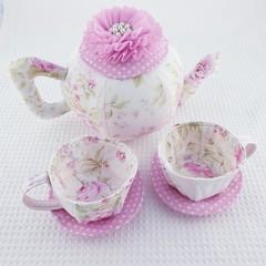 Pastel Roses Tea Set