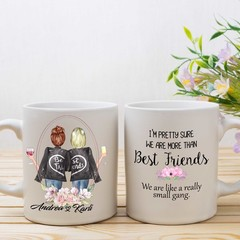 Best Friend Personalised Mug, More than Best Friends !, BFF Gift