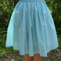 Mint Gingham Skirt - 75cm waist