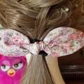 """Floral Garden"" Girls Hair Bow Elastic"