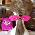 """Stars"" Girls Hair Bow Elastic"