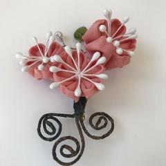 TSUMAMI ZAIKU Flower Brooch [Cherry blossom]