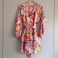 Ingrid Dress in Funday Flow Pink Print - Sz L, long sleeve, pockets